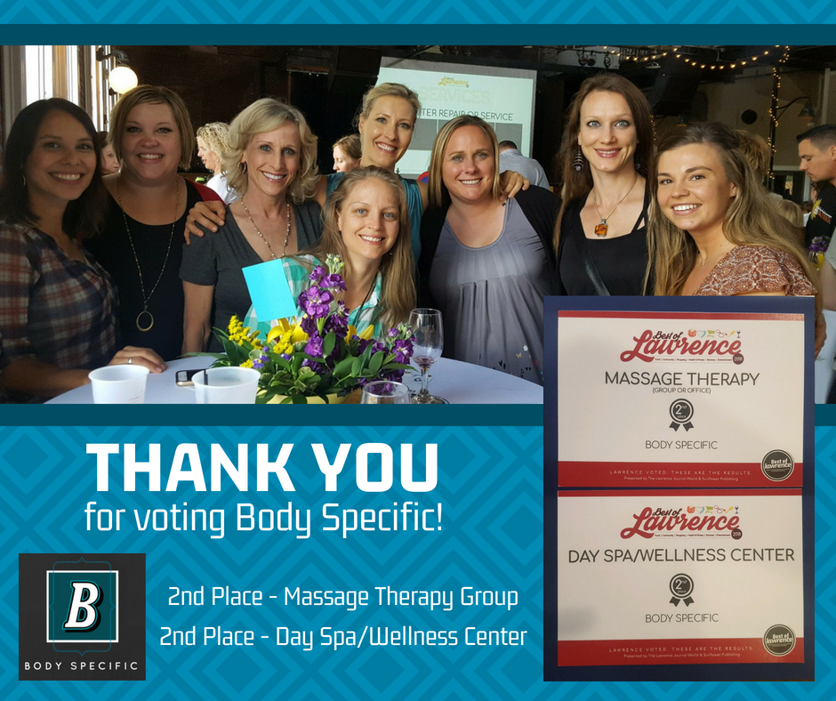 Body Specific 2018 Best of Lawrence Awards